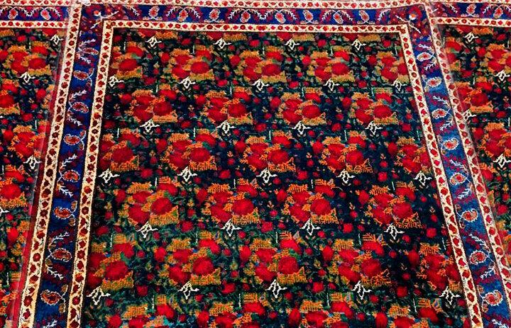 Persian carpet illustrating joyful Iranian garden